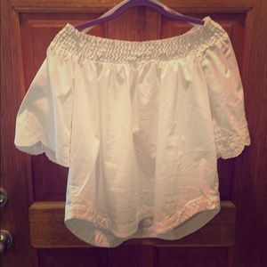 NY&CO white off the shoulder top